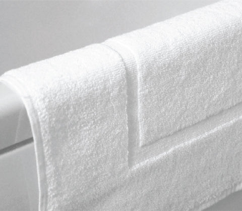 Plain White Bathmat (Pack of 6 Units)