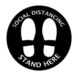 Customizable Social Distancing Floor Stickers 10cm/40cm