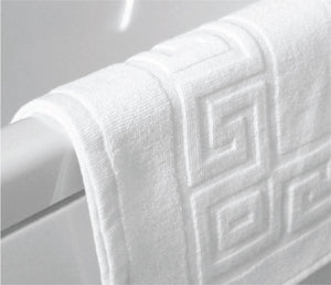 White Bathmat Greek Border (Pack of 6 Units)