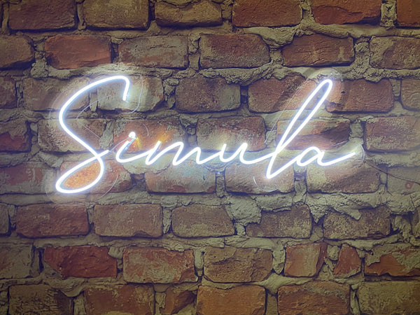 Neon Sign with Clear Acrylic Backing