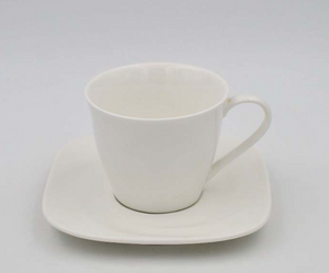 Square Shape Espresso Cup and Saucer 4.5″/5.75""