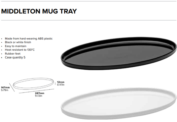 Middleton Mug Tray Black