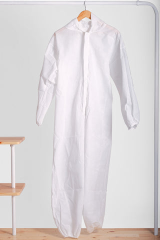 PPE Coverall Non Woven 60gsm with Shoe Cover (Pack of 10 Units)