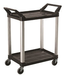 Utility Service Cart 2 Shelf Unit