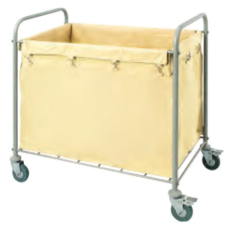 Cream Laundry Carts Steel tube Powder Coated Finish
