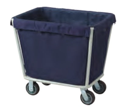 Blue Laundry Cart Steel tube Powder Coated Finish