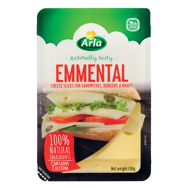 ARLA NATURAL EMMENTAL SLICES 14X150G