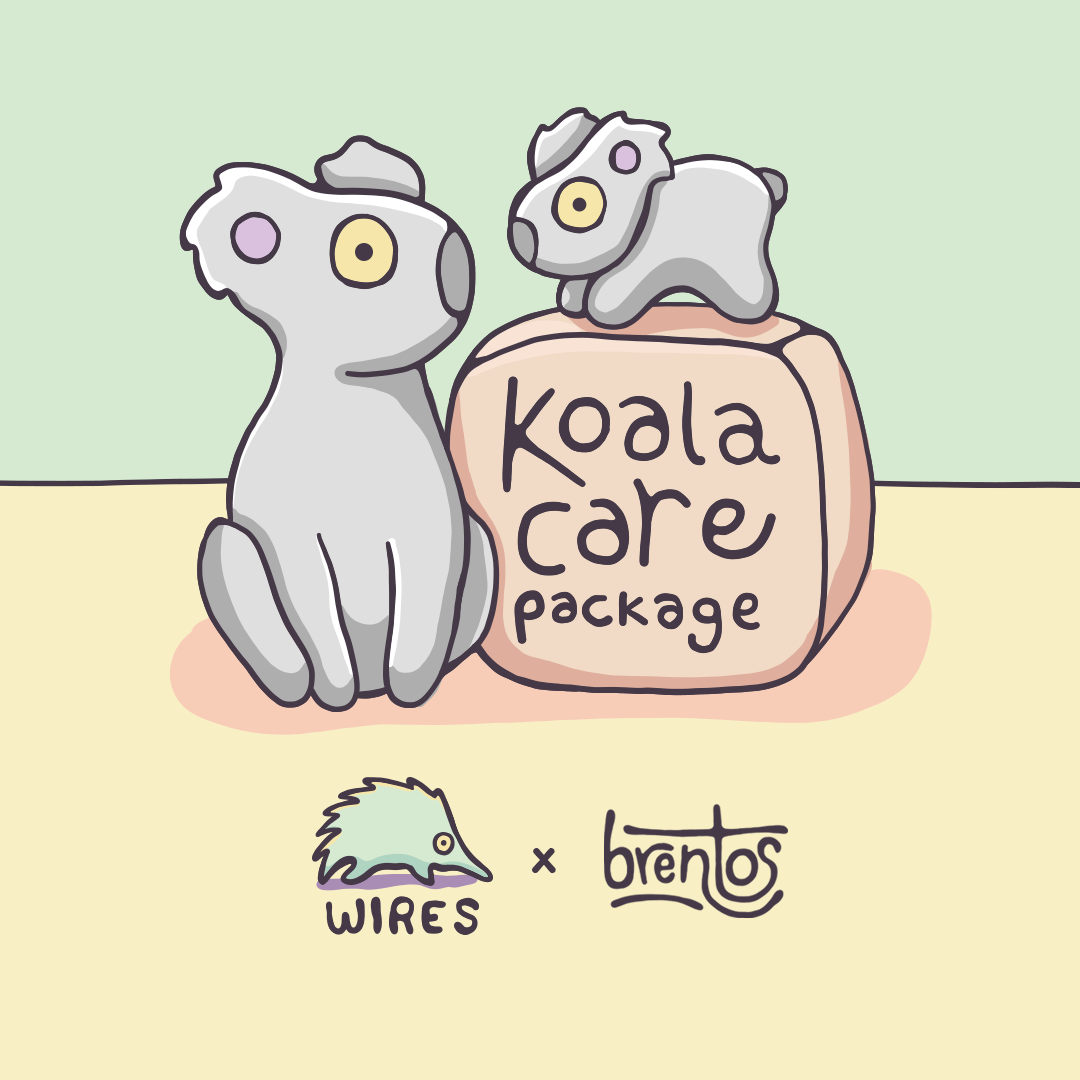 Koala Care Package Wires and Brentos Collaboration