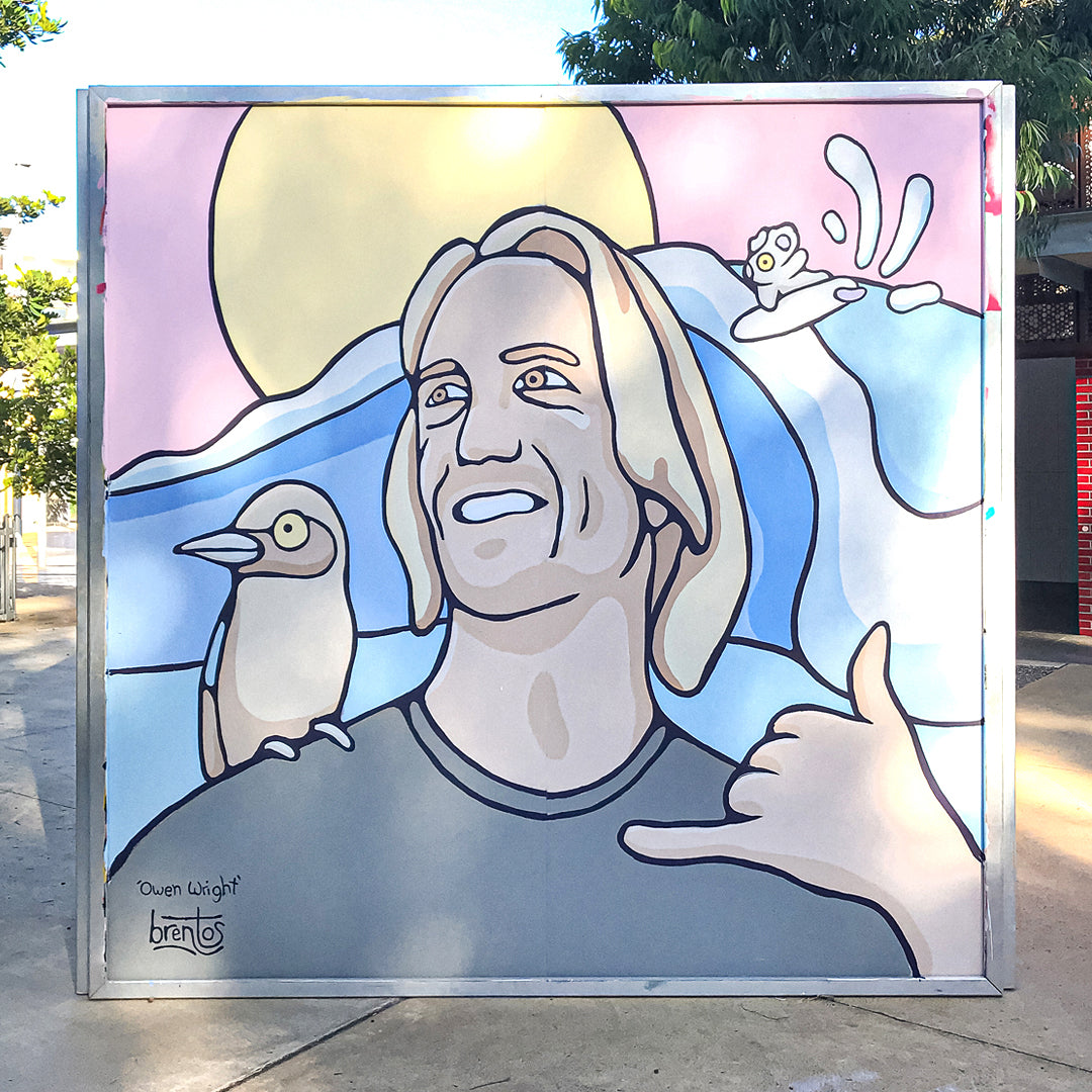 World Surf League Mural of Owen Wright by Brentos