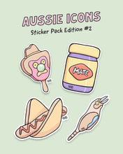 Load image into Gallery viewer, Aussie Icons Sticker Pack Edition #2