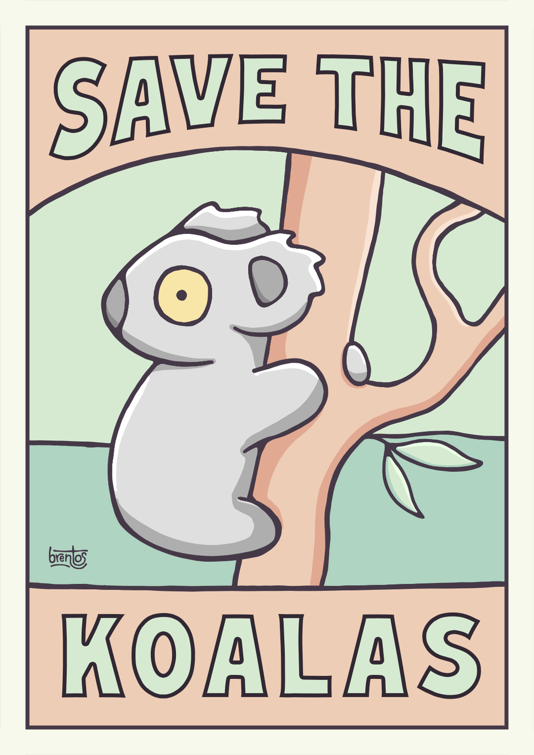 Save The Koalas Printable Poster