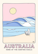 Load image into Gallery viewer, Surfing Koala Postcard
