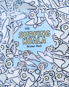 Surfing Koala Sticker Pack