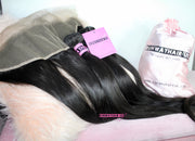 Silky Straight Frontal Bundle