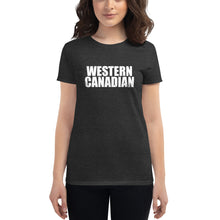 Load image into Gallery viewer, Women's Short Sleeve Western Canadian T-Shirt