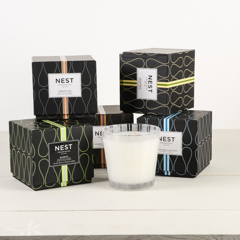THREE WICK GLASS CANDLE