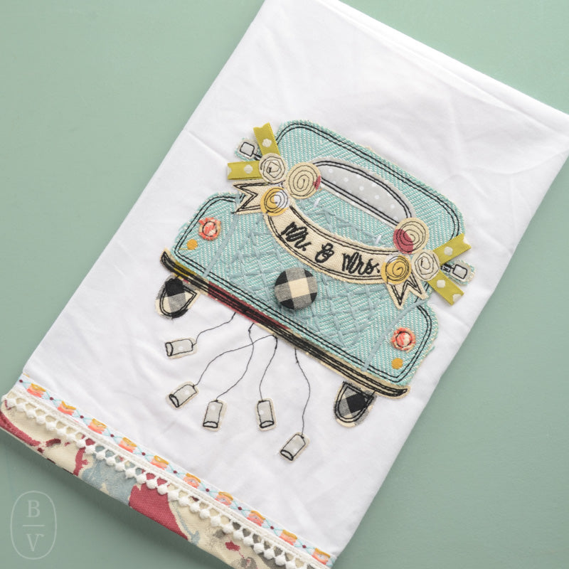 MR MRS WEDDING CAR TEA TOWEL