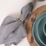 SQUARE METAL NAPKIN RINGS SET OF 4