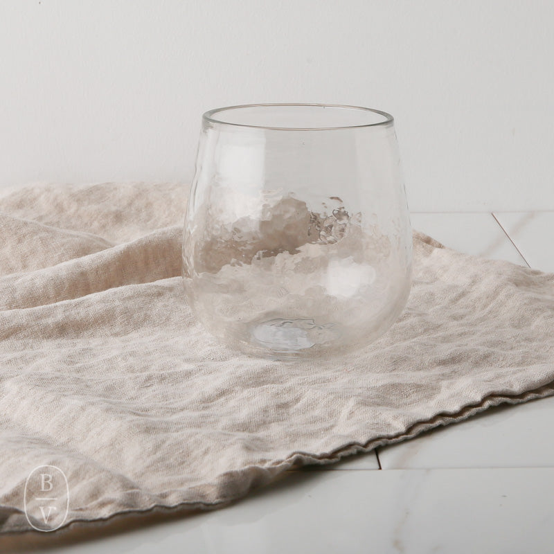 ARTISAN HAMMERED STEMLESS WINE GLASS