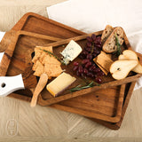 RECTANGLE CUTTING BOARD WITH WHITE HANDLE