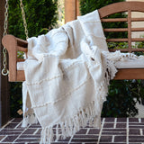 COTTON BLEND CHENILLE THROW BLANKET