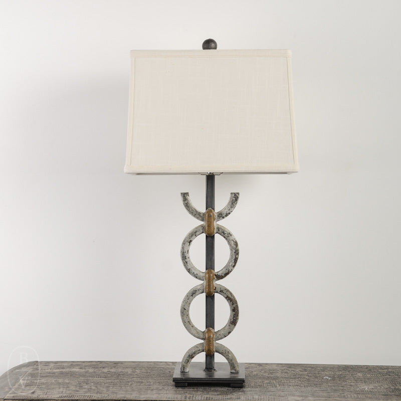 IRON RING LAMP WITH IRON BASE