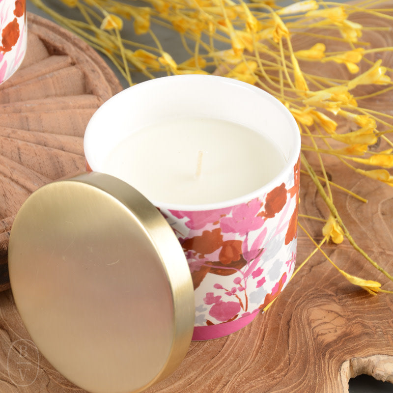 Go Be Lovely Lidded Ceramic Candle Bella Vita Gifts Interiors