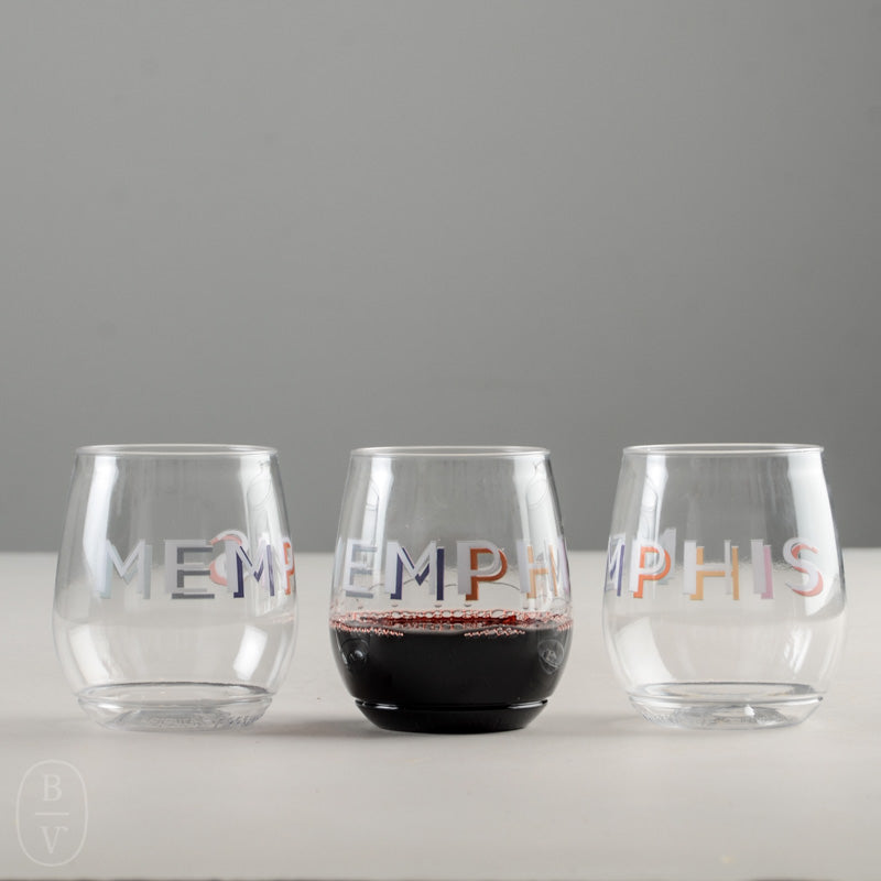 PRINTED WINE GLASS PACK OF 6
