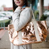 GIULIA METALLIC PAPER SHOPPER BAG