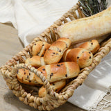 WOVEN BREAD TRAY WITH HANDLE