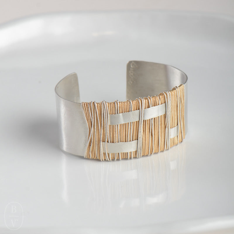 EXTRA WIDE HAMMERED CUFF BRACELET - B396350
