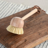 BEECH WOOD BRUSH WITH LEATHER TIE
