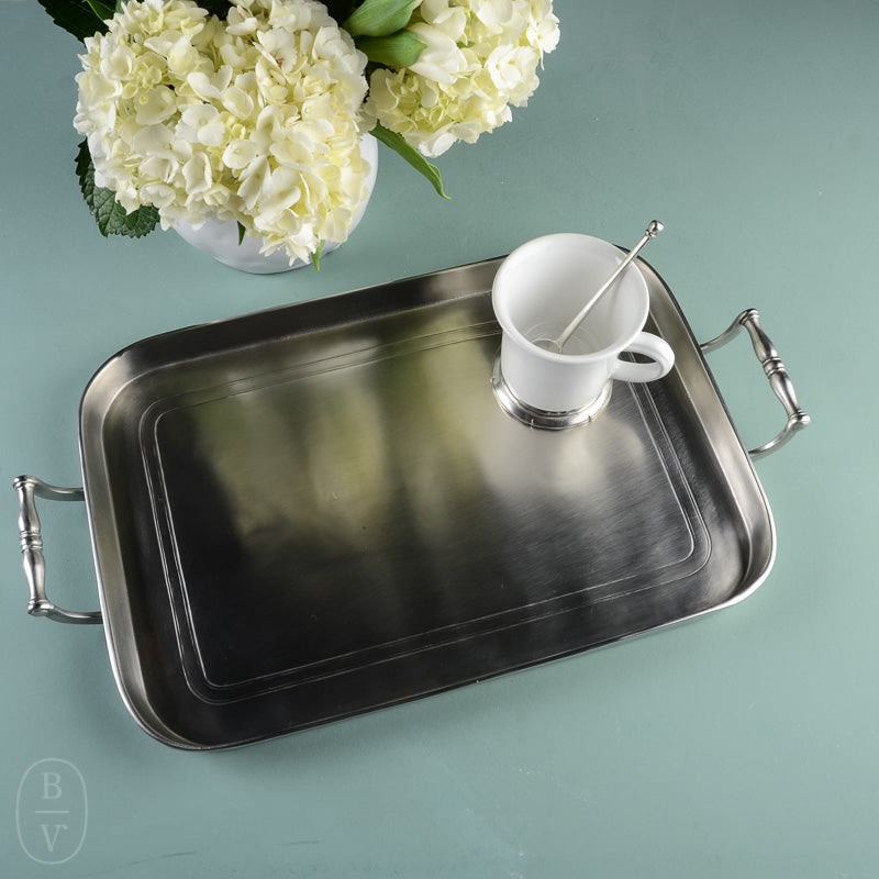 GALLERY TRAY WITH HANDLES