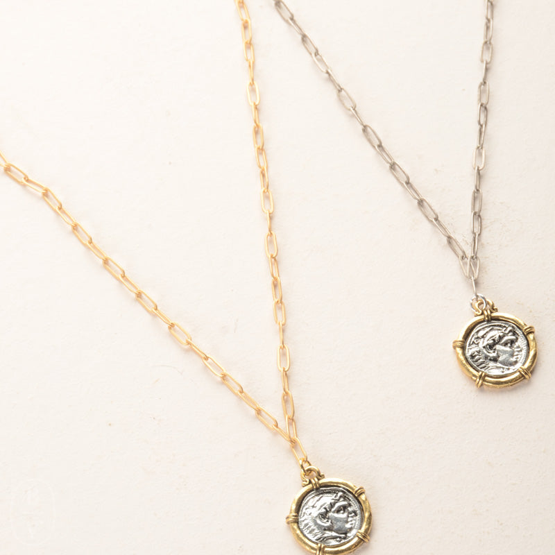 SMALL ANTIQUE COIN NECKLACE
