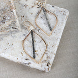 MIXED METAL BAR DROP E2190G0XSM EARRINGS