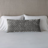 SILK VELVET QUILTED LUMBAR PILLOW