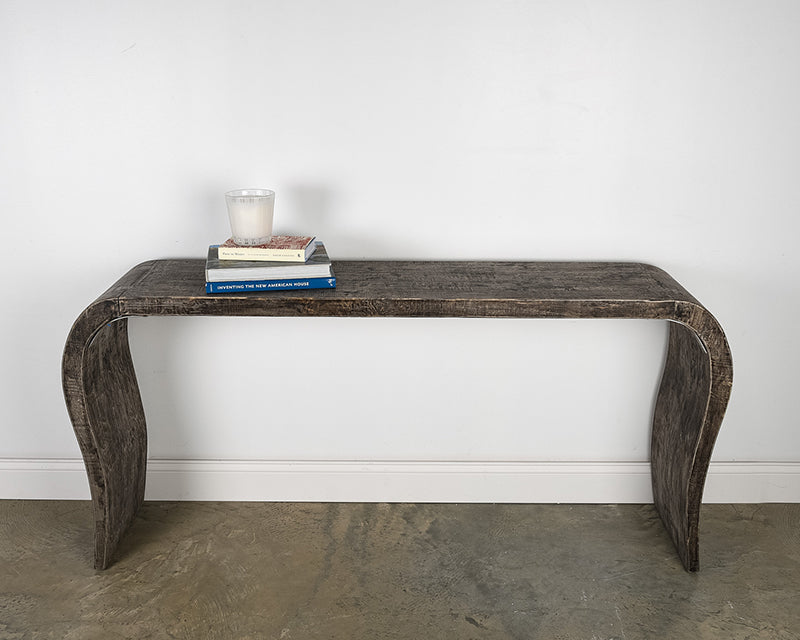 RECLAIMED ELM MUSIC TABLE CONSOLE