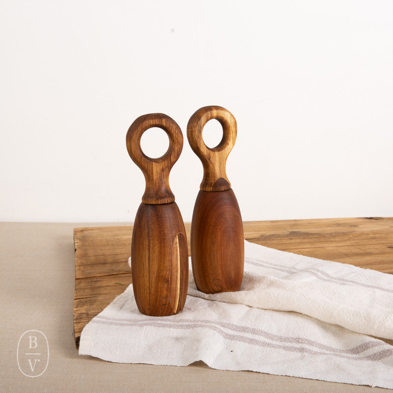 ACAI WOOD SALT AND PEPPER MILL SET