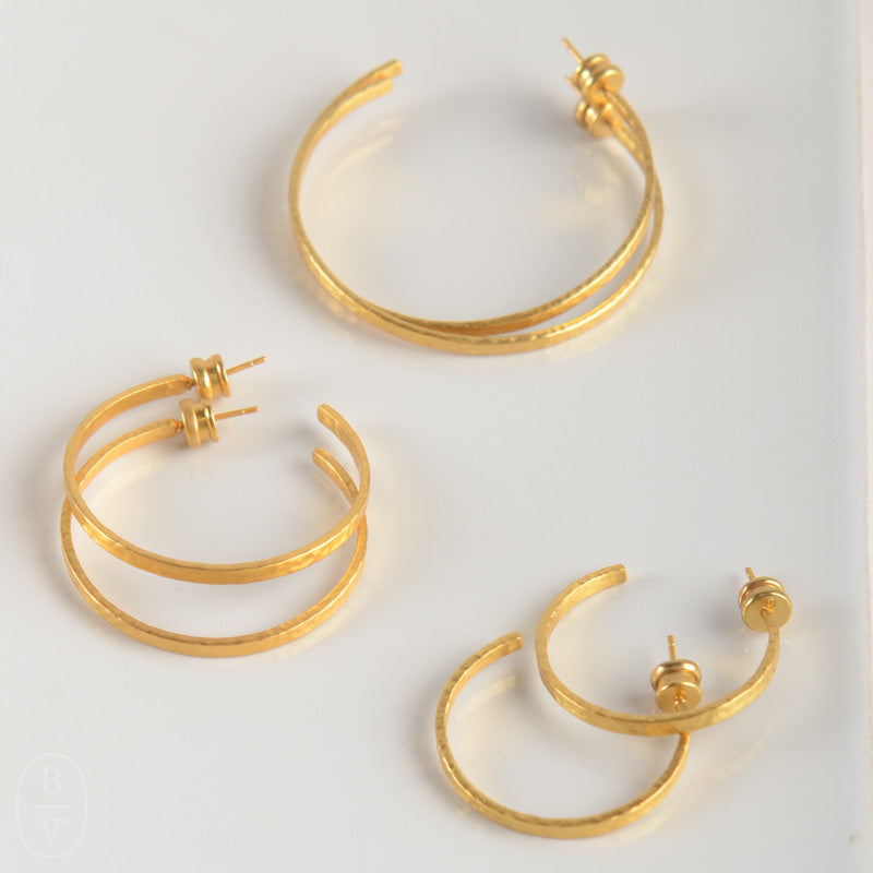 CRESCENT GOLD HOOP EARRINGS