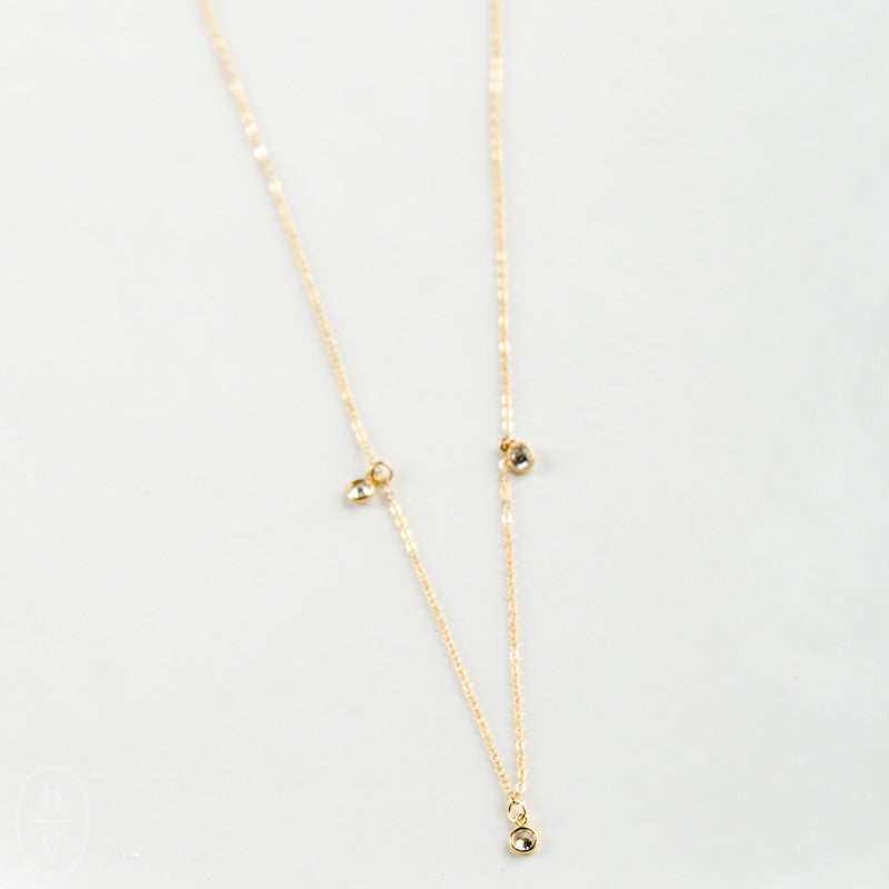 TRIPLE STELLA DROP NECKLACE