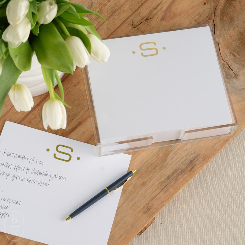 GOLD FOIL LARGE INITIAL NOTEPAD