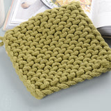 SQUARE COTTON CROCHETED POT HOLDER