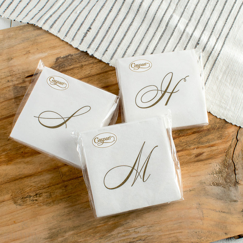 WHITE PEARL PAPER LINEN COCKTAIL NAPKIN
