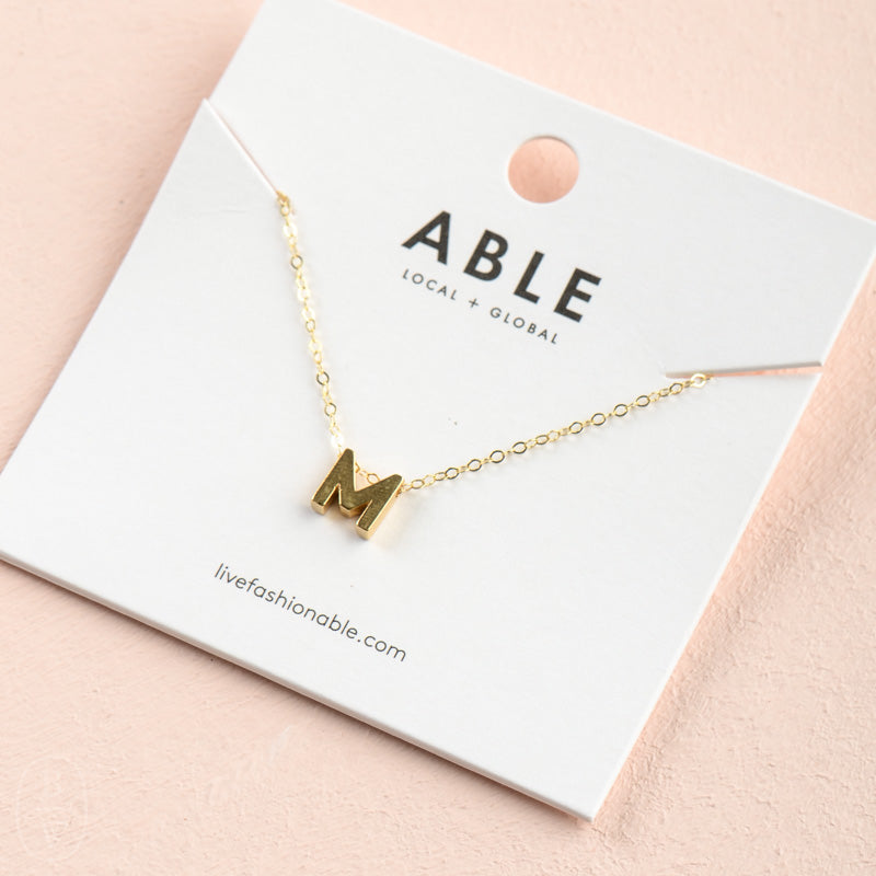 LETTER CHARM NECKLACE