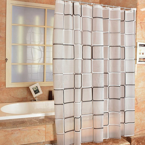 Bathroom transparent waterproof shower curtain