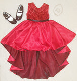 Princess Sequin High Low dress