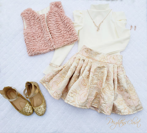 Puff Sleeve and Puff skirt set