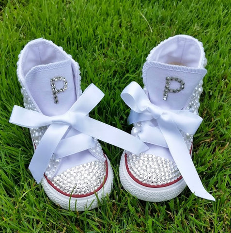Initial Pearl Bling Shoes