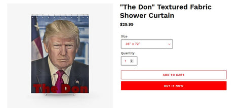 Trump shower curtain