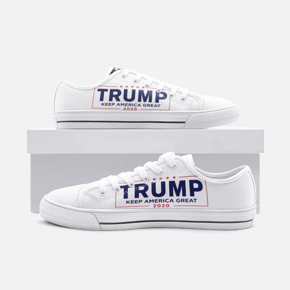 Trump 2020 Banner Converse Style Shoe